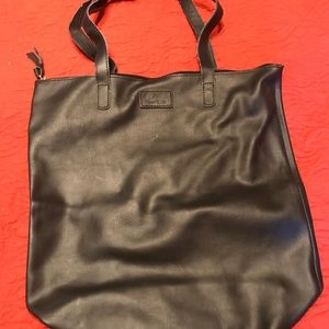 JM New York Black Leather Tote